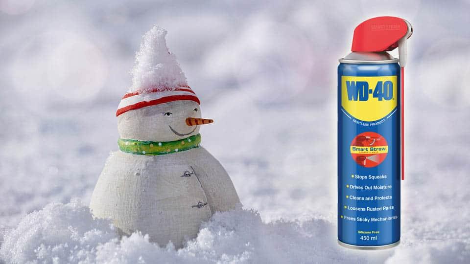 Първа помощ с WD-40 през зимата